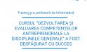 """Cursul """"Dezvoltarea și evaluarea competențelor antreprenoriale la disciplinele generale"""" a fost desfășurat cu succes"""