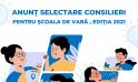 Anunț pentru selectarea Consilierilor pentru Școala de vară de liderism pentru fete, ediția 2021