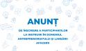 Anunț de înscriere a participanților la instruiri în domeniul antreprenoriatului și lansării afacerii